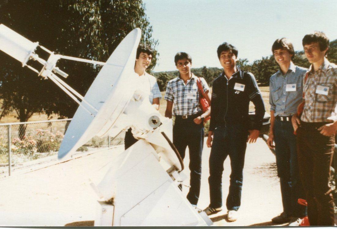 1984 Lab Visit Satellite