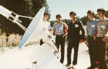 1984 Lab Visit Satellite