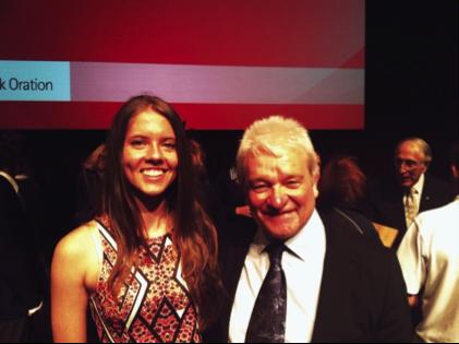 NYSF students visit 2015 Graeme Clark Oration - content image