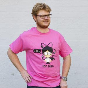 male showcasing tshirt