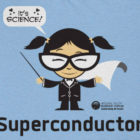 Super conductor cartoon - blue shirt