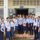 Tara Murphy with a team of students overseas
