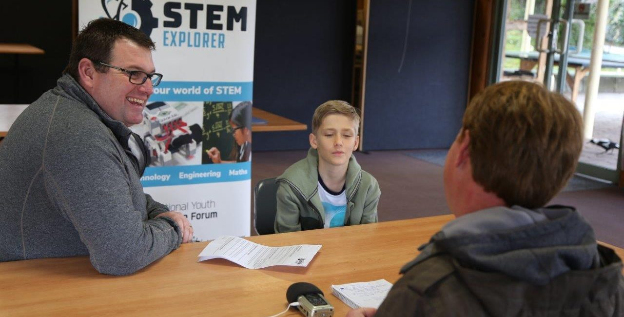 Dr Damien Pearce at the NYSF STEM Explorer Program in July 2017