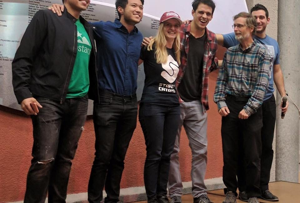 Me & my team taking third place for a bee conservation idea at the 2-day Startup Weekend competition in San Fran with Startup Catalyst