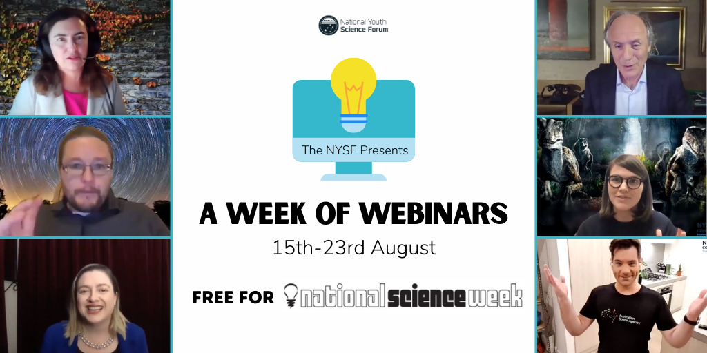 NYSF Week of Webinars – National Science Week 2020 - feature image, used as a supportive image and isn't important to understand article