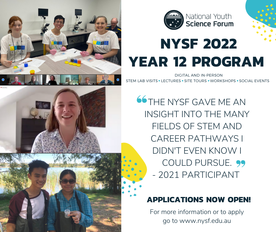 Promoting the 2022 NYSF Year 12 Program – Teachers and Non-Alumni - content image